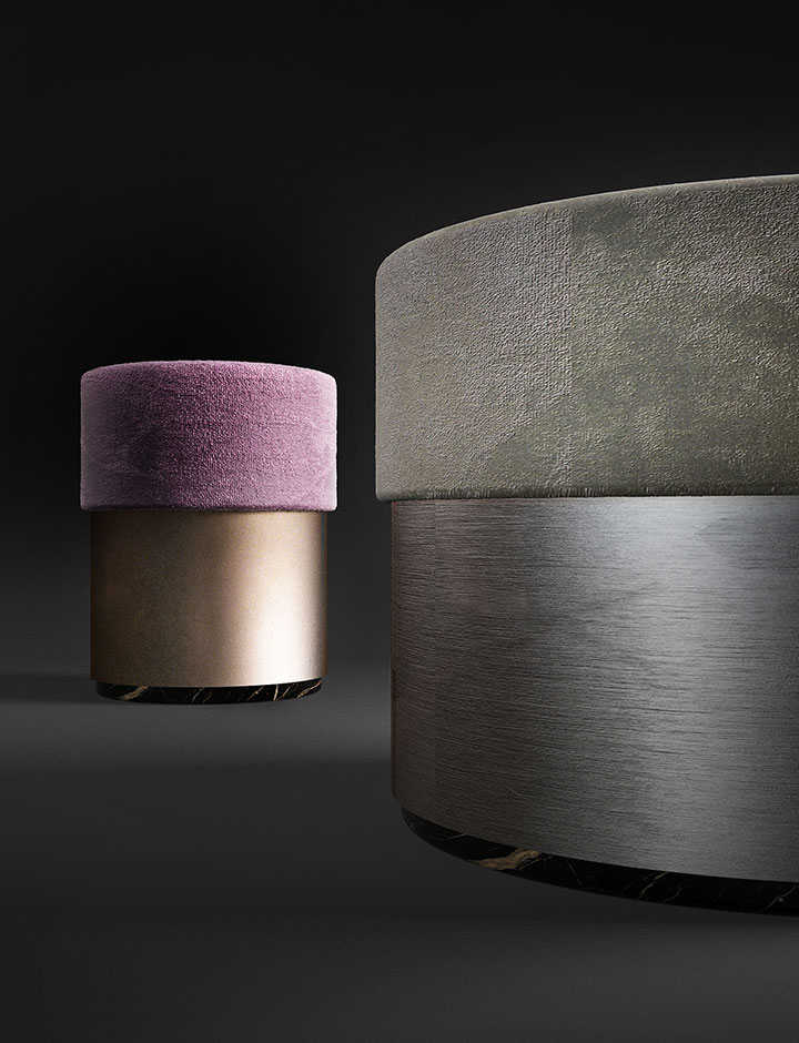 Gramercy - Pouf made in Italy by Rossato