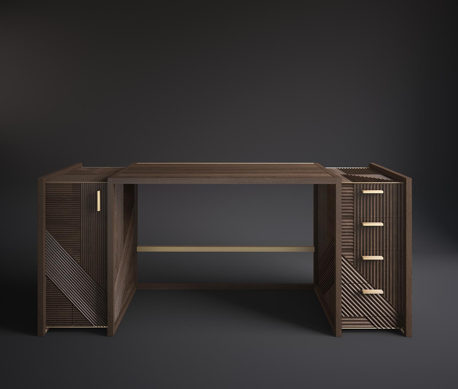 Hampton - Desk made in Italy by Rossato