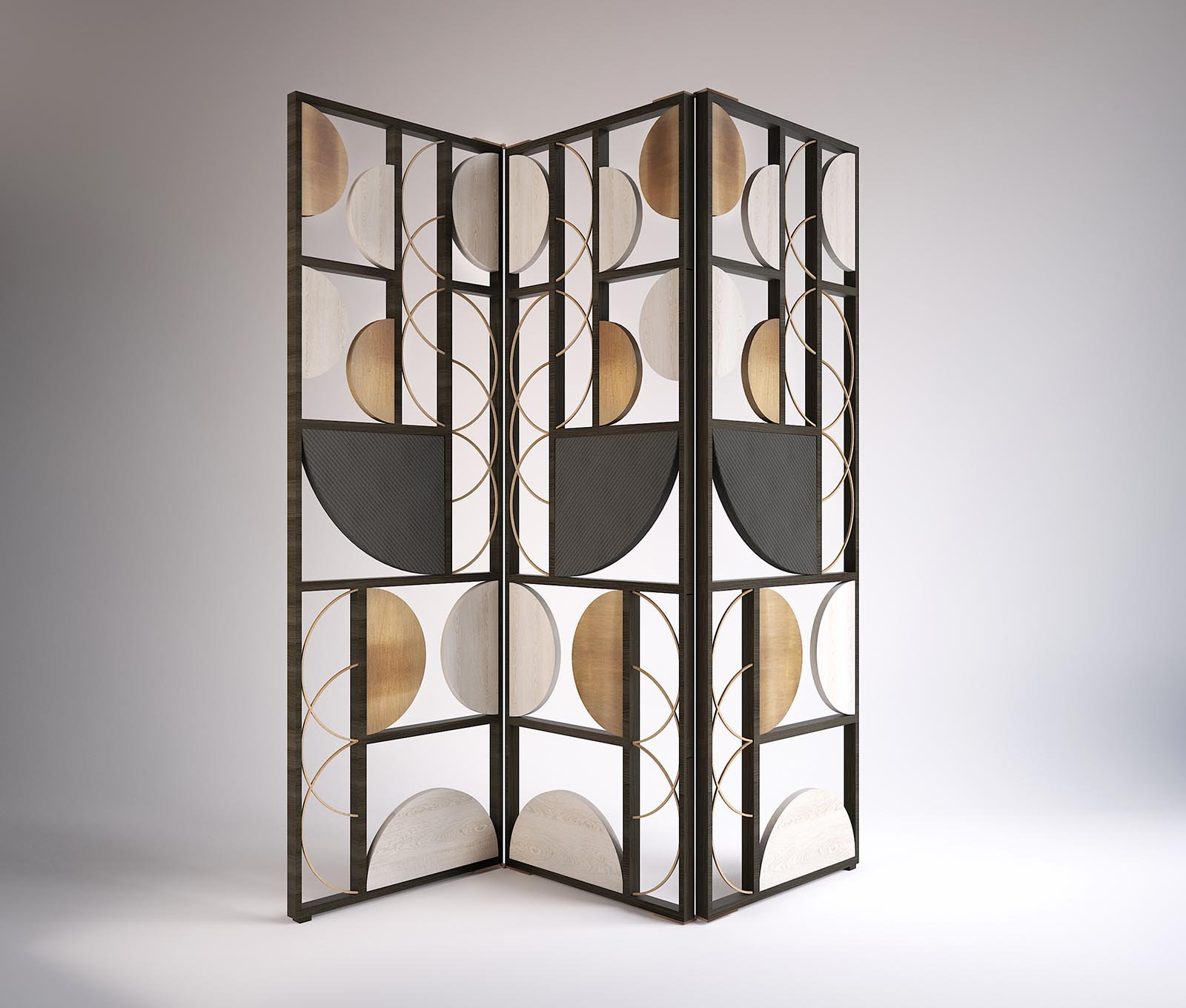 Tiffany - Folding Screen made in Italy by Rossato